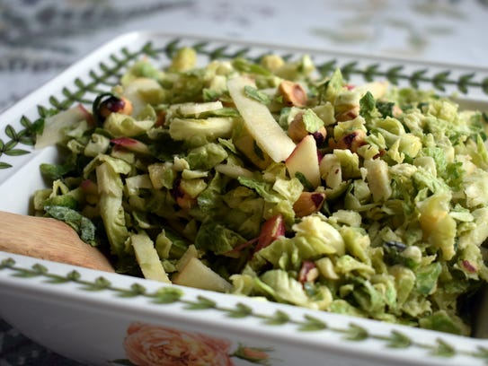 Shaved Brussels Sprouts Salad with Brown Butter Dressing