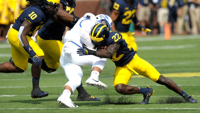 Michigan's defense has surrendered just three field goals and three touchdowns over the first three games.