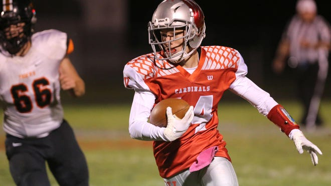 Sandy Valley´s Mason Tucci, shown here last year, returned two kicks for touchdowns in the season opener against Strasburg.