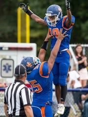 Keansburg's Jashawn Martin scores a touchdown. Point