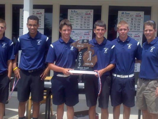 DeWitt golf team 2012 state runners-up