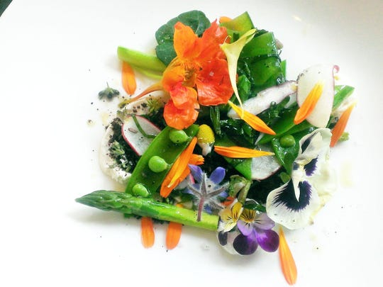 Courier News Dining Guide Ninety Acres Spring Vegetable Salad
