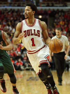 Derrick Rose scored 23 points in his first playoff game in three years.