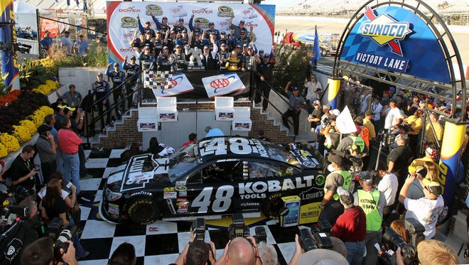 Jimmie Johnson has driven his No. 48 Chevrolet to nine victories at Dover International Speedway.