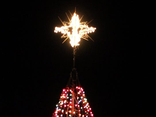 The star atop the Hospice Tree of Lights will be lighted