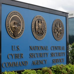 In this June 6, 2013 file photo, a sign stands outside the National Security Agency (NSA) campus in Fort Meade, Md. The NSA considered abandoning its secret program to collect and store American calling records in the months before leaker Edward Snowden revealed the practice, current and former intelligence officials say, because some officials believed the costs outweighed its meager counter terrorism benefits.