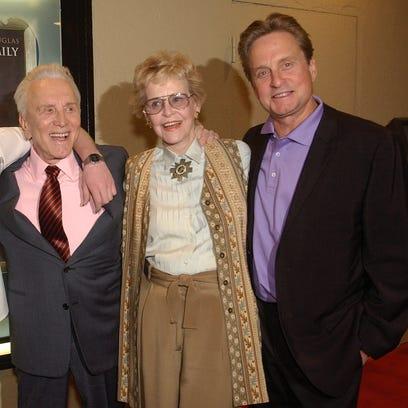 Douglas family reunion: Cameron, Kirk, Diana and Michael