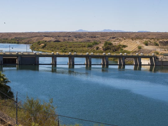 Water from the Colorado River is diverted to the Colorado River Indian Tribes' canals in Parker.