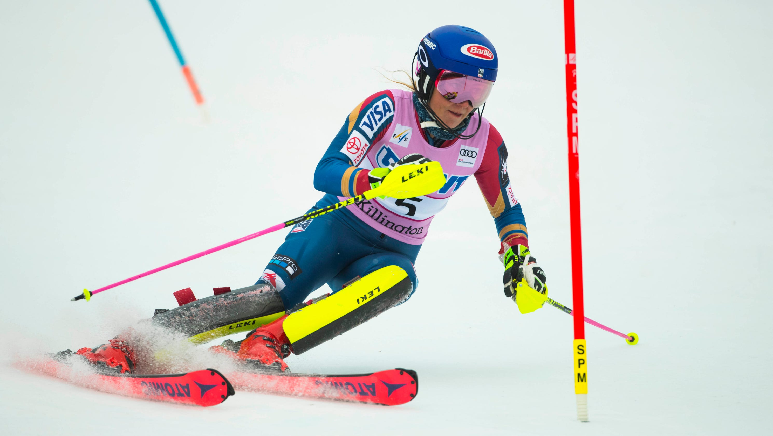 American Mikaela Shiffrin Captures Another Slalom Title In