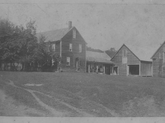 An 1884 photograph showing the Stevens' family home in Montpelier. The house burned in the early 20th century.