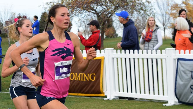 Nevada's Cora Gallop finished 14th at the Mountain West cross country championship Friday.