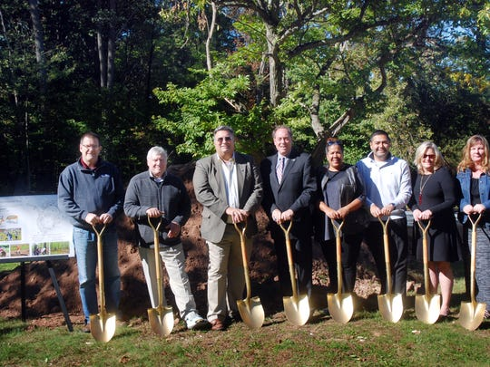 Union County Freeholder Chairman Bruce H. Bergen, Vice Chairman Sergio Granados and Freeholders Linda Carter and Alexander Mirabella joined Union County Manager Alfred Faella, Deputy County Manager Amy Wagner, Union County Parks and Recreation Director Ron Zuber and Trailside Nature & Science Center Director Patricia Bertsch in breaking ground on the Watchung Reservation Sensory Trail, the first of its kind in the county, that will be accessible to all and allow residents to enjoy the natural surroundings at the Trailside Nature and Science Center in Mountainside.
