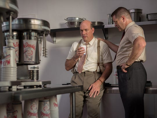 John Carroll Lynch (left) and Nick Offerman star as Mac and Dick McDonald, the real founders of McDonald's, in 'The Founder.'