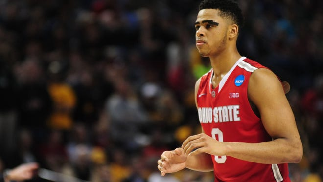 Ohio State guard D'Angelo Russell could be the top point guard taken in this year's NBA draft.