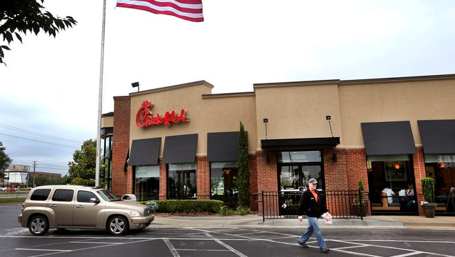 Customers vist the Chick-fil-A off of Old Fort Parkway, in Murfreesboro. The Murfreesboro City Planning Commission approved a new Chick-fil-A on Memorial north of Wal-Mart.