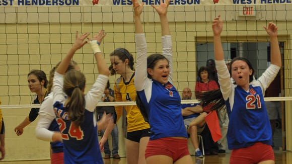 West Henderson was the WNC Athletic Conference volleyball