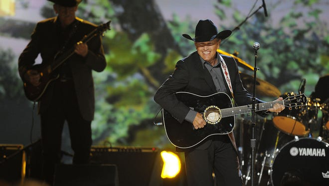 George Strait performs at the 48th Annual Academy of Country Music Awards in Las Vegas.