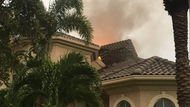 A fire was reported on Lansing Island Drive in Indian Harbour Beach Wednesday.