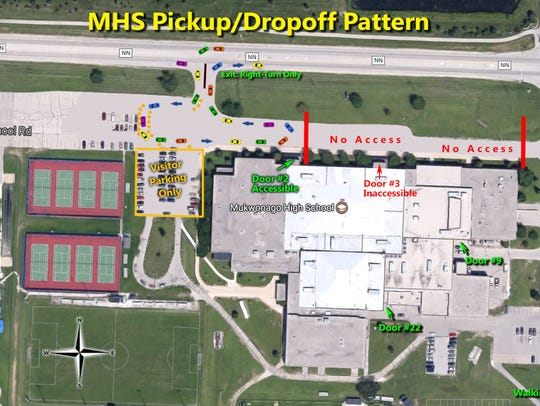As of March 3, drivers dropping off students at Mukwonago