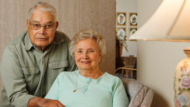 Stephen and Virginia Pedro in their Great Falls home. Stephen was a guard in court during the Nuremberg Trials in Germany.