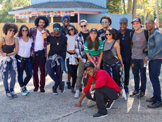 """On their day off, the cast and crew of """"Hamilton"""", one of Broadway's hottest shows, spent the afternoon at Great Adventure and sampled many of the park's thrill rides."""
