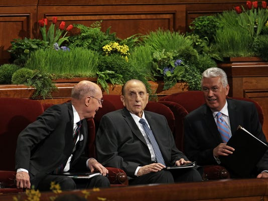 Thomas S. Monson, Henry B. Eyring, Dieter F. Uchtdorf