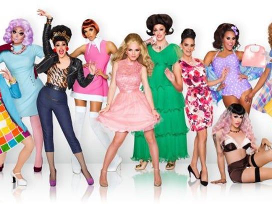 "The cast of Season 8 of ""RuPaul's Drag Race"" is seen"