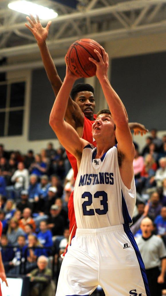 Senior Cal Raleigh is the top scorer for the Smoky Mountain boys basketball team.