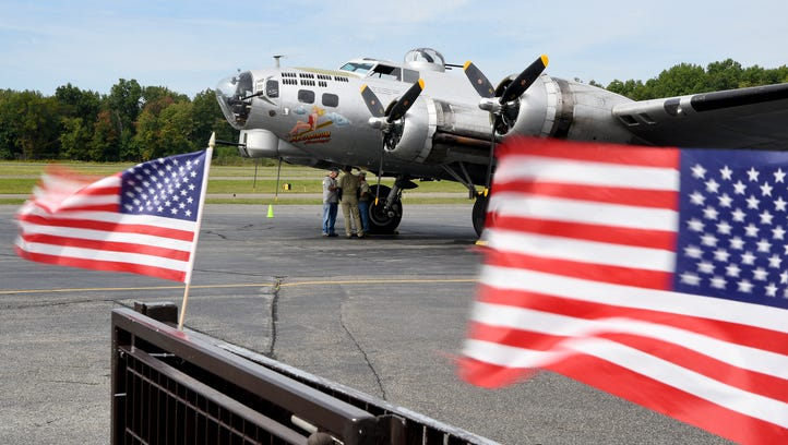 World War II bomber, a living history exhibit, soars over Essex County