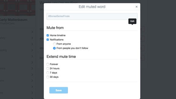 Twitter is letting its users mute words, with options