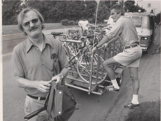 RAGBRAI co-founders Don Kaul, left, and John Karras
