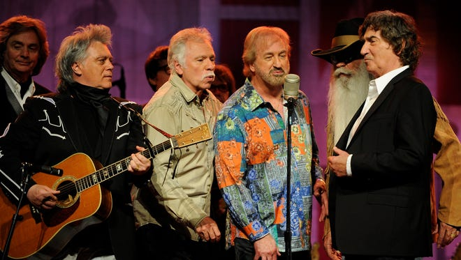 Marty Stuart performs with the Oak Ridge Boys during Marty Stuart's Late Night Jam at the Ryman Auditorium Wednesday June 8, 2016, in Nashville, Tenn.