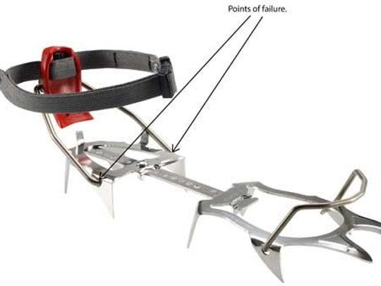 The heel bail of Tour Nanotech Automatic and Semi-Automatic Crampons can detach from the crampon, posing a fall hazard.