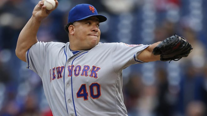 Pitcher Bartolo Colon, who played three seasons with the Mets (2014-16), craves one more shot in the majors at the age of 47. LAURENCE KESTERSON/AP