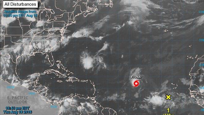 A look at the Atlantic basin as of Thursday night at 11 p.m.