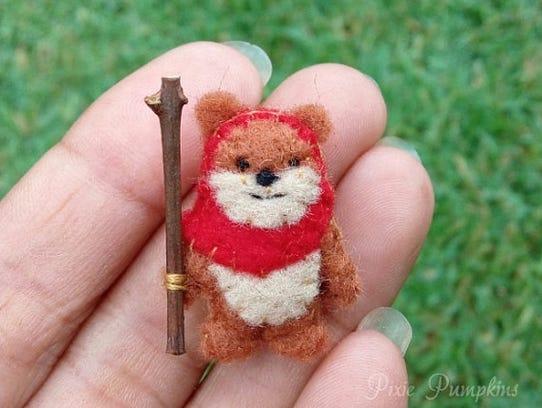 Miniature felt collectible, $10.