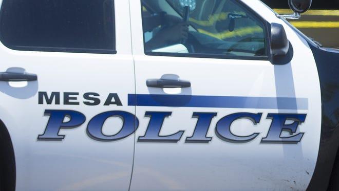 A Mesa police vehicle/
