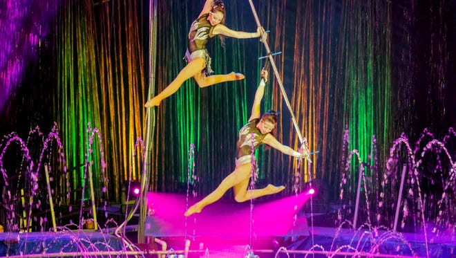 Performers with Cirque Italia take part in the show. The circus will come to West Town Mall's parking lot from May 10-13.