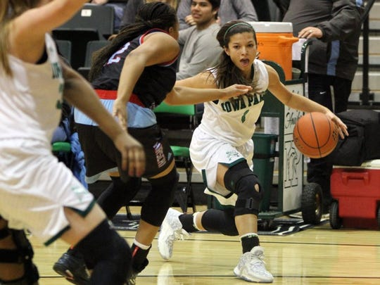 Iowa Park's Jade Martin (1) last played two seasons ago and hopes to be a boost for the Lady Hawks after missing last year with a knee injury.