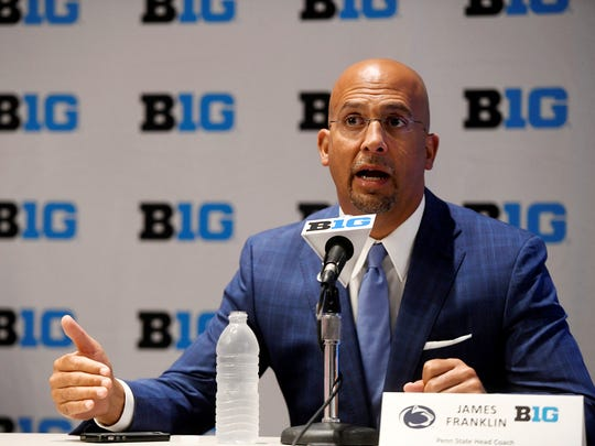 Penn State head football coach James Franklin. AP FILE PHOTO