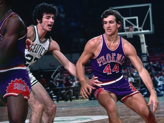 Star Paul Westphal and the Suns take on the Celtics
