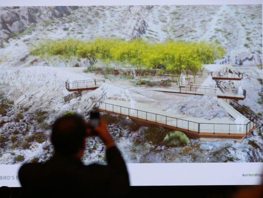 An image of a re-done Murchison Park was shown at a community meeting last year.