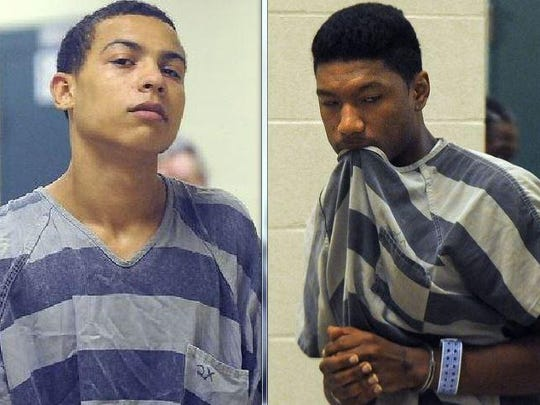 David Leonard Randle Jr., 20, (left) and Tyrique Eugene Wright, 19.