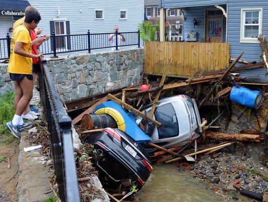 AP APTOPIX MARYLAND FLASH FLOODING A USA MD