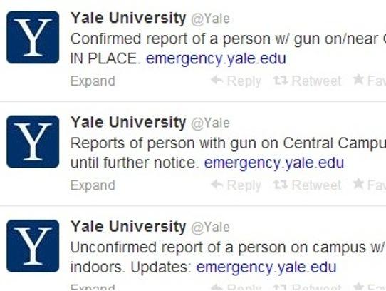 Yale Tweet
