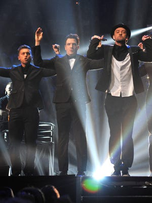 'N Sync  performs during the 2013 MTV Video Music Awards at the Barclays Center on Aug. 25 in Brooklyn.