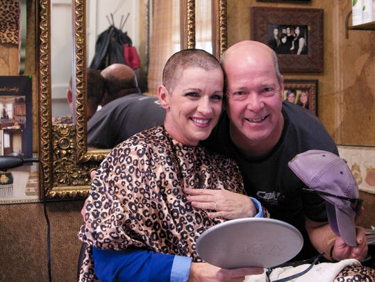 Madelene Boudreaux and husband Ricky share a smile