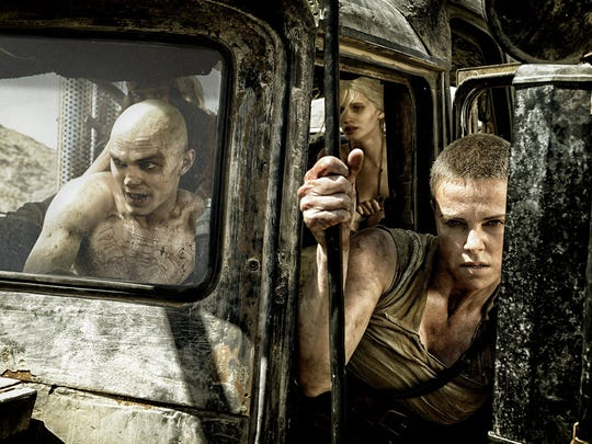 Nicholas Hoult as Nux and Charlize Theron as Furiosa in 'Mad Max: Fury Road.'