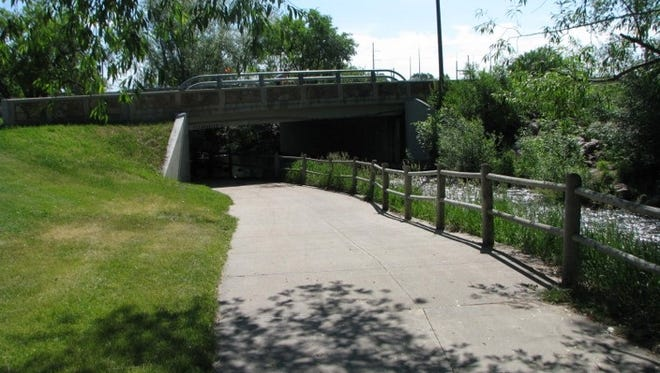 The bridge that carries Riverside Avenue across Spring Creek near EPIC will be replaced later this year.