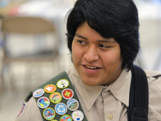 Eagle Scout candidate James Boyle, 16, smiles Sunday, Nov. 15 as he talks about his project to send stoves and aid to Guatemala. The stoves help contain fires used for cooking and they also prevent injury and vent the smoke outside of the homes.